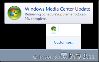 Capture Media Center Update retrieval