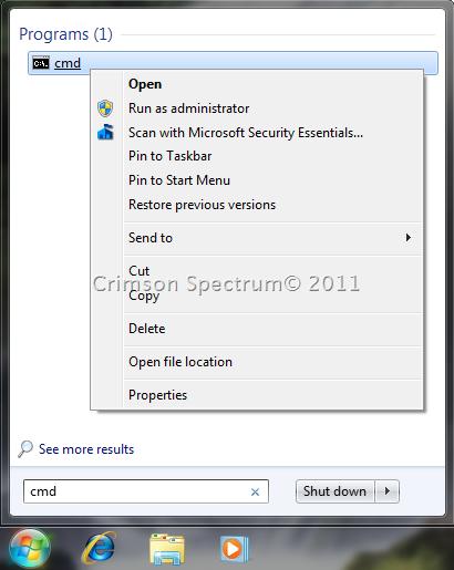 Capture Start Search CMD