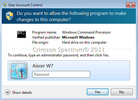Capture UAC CMD Password