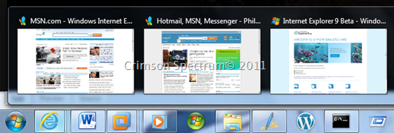 Capture Windows 7 Taskbar Preview Cut