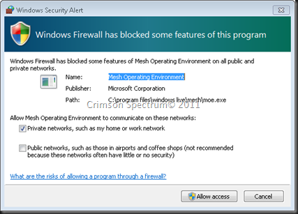 Capture Mesh Firewall Allow
