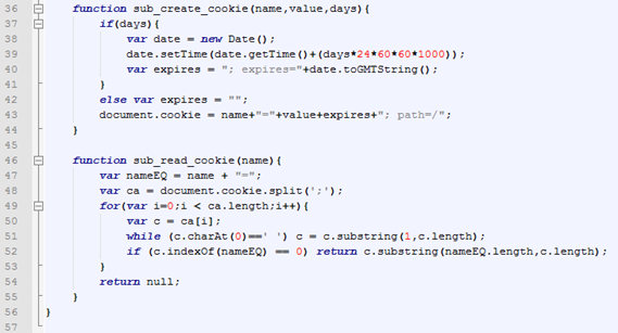 Capture Cookie Script