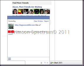 Capture FB Chat Spam Edit
